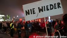Deutschland Berlin Gegen-Demonstration Wir für Deutschland