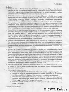 Briefing paper des Council of Economic Advisors (DW/M. Knigge)