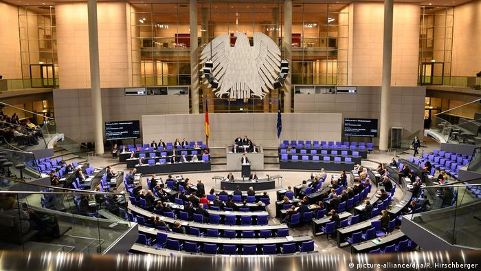 The Bundestag in plenary session