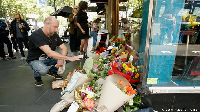 Flowers in front of Pellegrini's in Melbourne (Getty Images/D. Traynor)