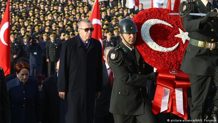 Cumhurbaşkanı Erdoğan ve devlet erkanı Anıtkabir'deki resmi törende