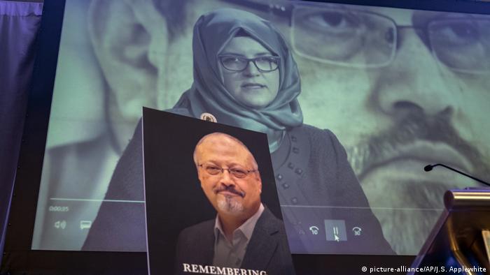 Fall Khashoggi - Gedenkveranstaltung in Washington (picture-alliance/AP/J.S. Applewhite)