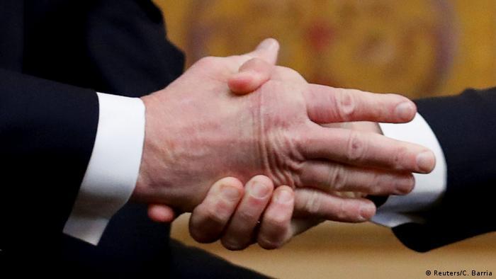 Paris US-Präsident Trump und Macron (Foto: Reuters/C. Barria)