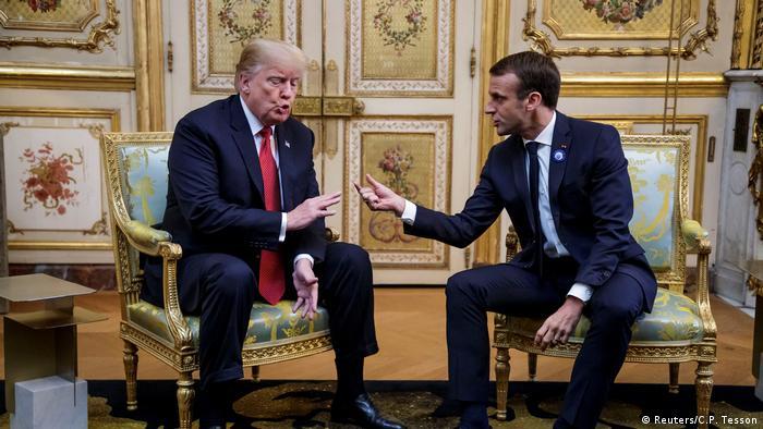 Paris US-Präsident Trump und Macron