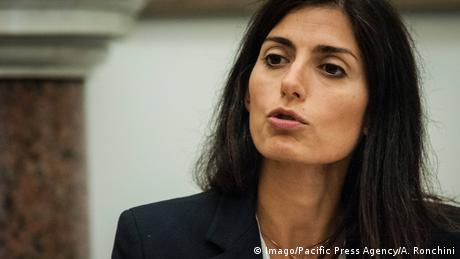 Italien Roms Bürgermeisterin Virgina Raggi (Imago/Pacific Press Agency/A. Ronchini)