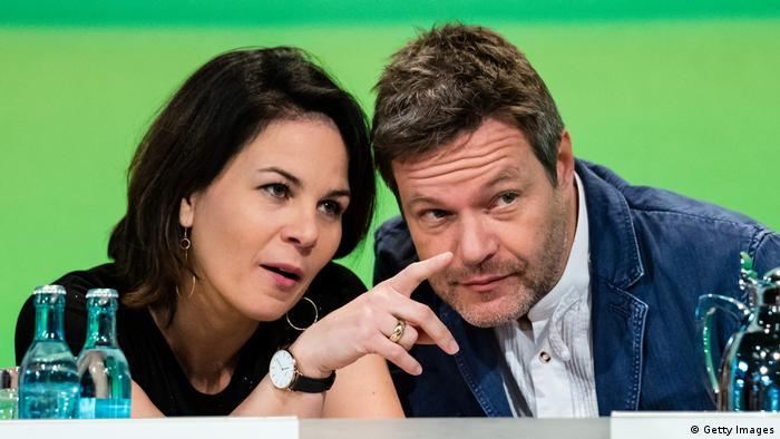 Annalena Baerbock und Robert Habeck auf dem Grünen-Parteitag in Leipzig