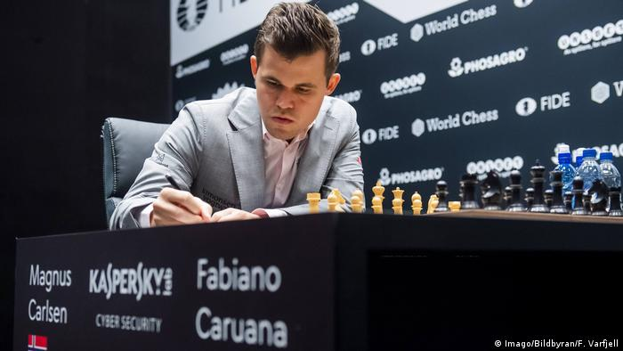 UK Schach-WM in London | Magnus Carlsen (Imago/Bildbyran/F. Varfjell)