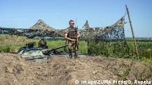 Ukraine Ukrainische Soldaten bei Luhansk