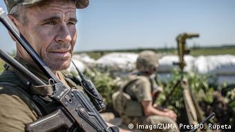 Украинские солдаты в Донбассе, июнь 2018 года