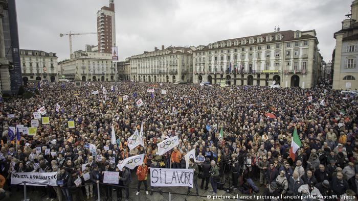 Italien | Demonstranten fordern Strecke nach Lyon in Turin