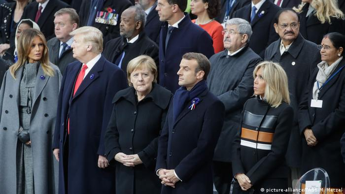 Trump, Merkel and Macron (picture-alliance/TASS/M. Metzel)