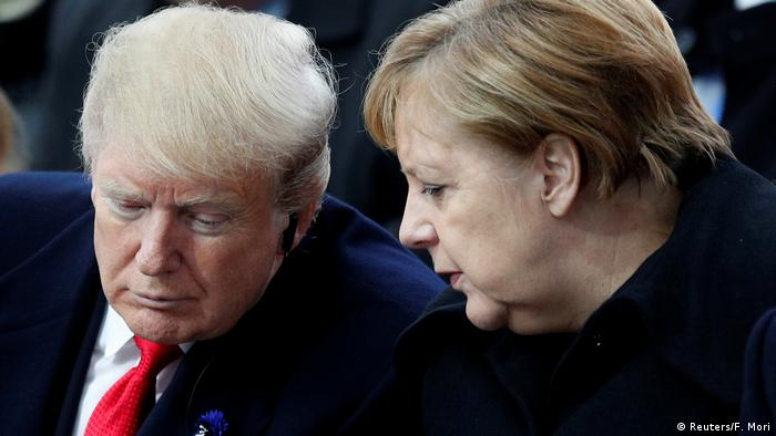 US President Donald Trump and German Chancellor Angela Merkel (Reuters/F. Mori)