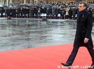 Еммануель Макрон під час урочистостей у Парижі