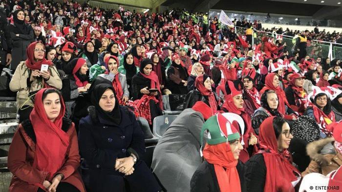 Iran Frauen im Stadion