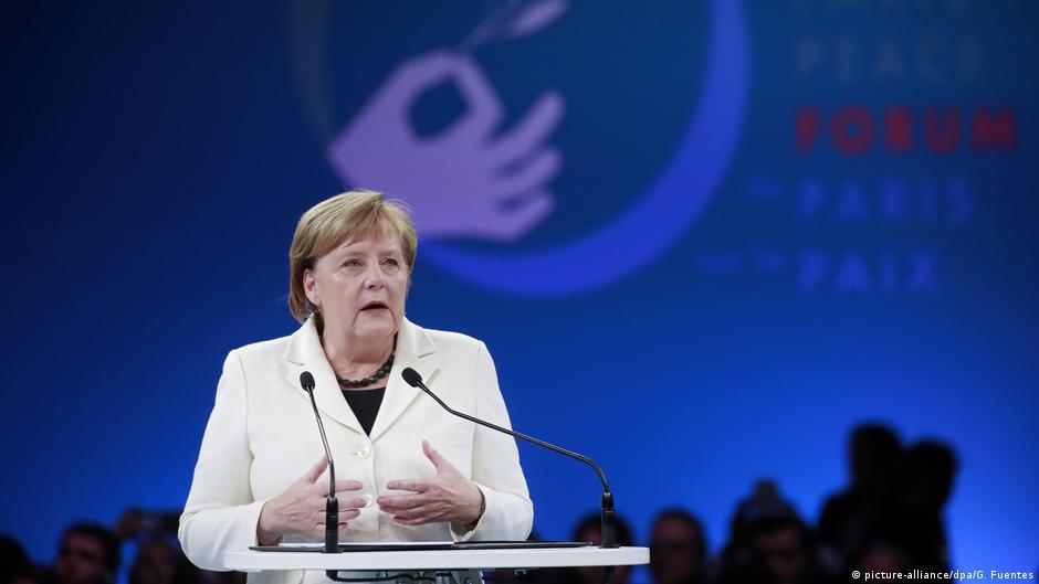 Merkel promovon kohezionin në botë