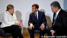 Paris Treffen Merkel Macron Poroschenko