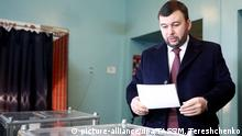 Denis Pushilin casting his vote (picture-alliance/dpa/TASS/M. Tereshchenko)