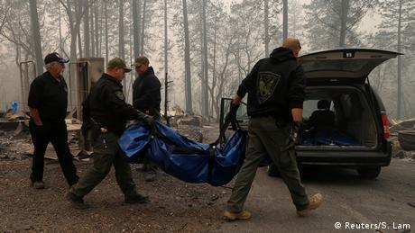 Kalifornien Paradise Waldbrände Opferbergung (Reuters/S. Lam)