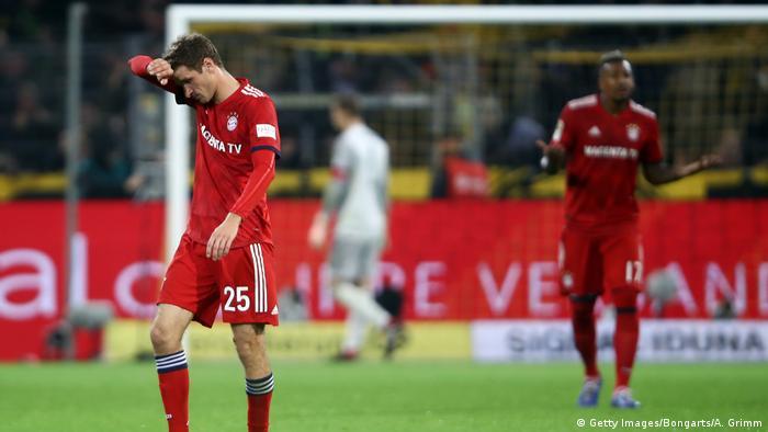 Fußball Thomas Müller Borussia Dortmund v FC Bayern Muenchen - Bundesliga (Getty Images/Bongarts/A. Grimm)