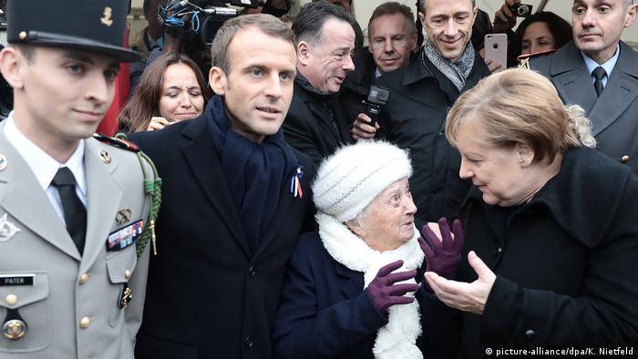 Macron y Merkel en Compiègne
