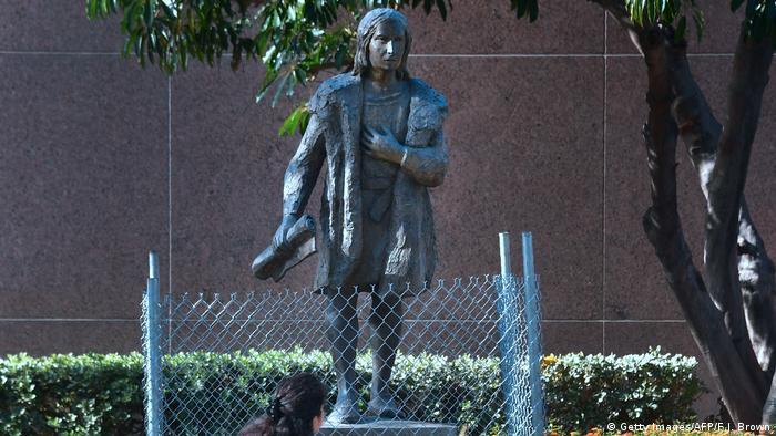 USA Statue von Christoph Kolumbus in Los Angeles