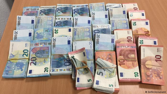Cedar-Geldwäsche-Netzwerk - Beschlagnahmtes Geld (Zollkriminalamt)