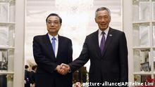 China Li Keqiang, Lee Hsien Loong Singapur