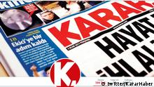 Die Twitterseite der türkischen Zeitung Karar