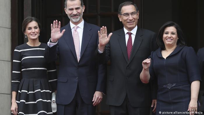 Lima, spanisches Königspaar besucht Peru (picture-alliance/dpa/M.Mejia)