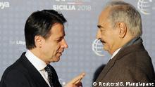 Italien Libyen-Konferenz in Palermo   Giuseppe Conte & Khalifa Haftar
