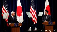 Japan Besuch Mike Pence, US-Vizepräsident | mit Shinzo Abe, Premierminister
