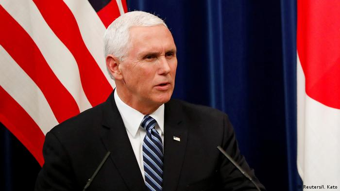US Vice President Mike Pence had visited Japan ahead of the APEC meeting