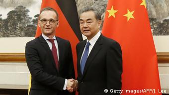 Außenminister Heiko Maas in China | Wang Yi (Getty Images/AFP/J. Lee)