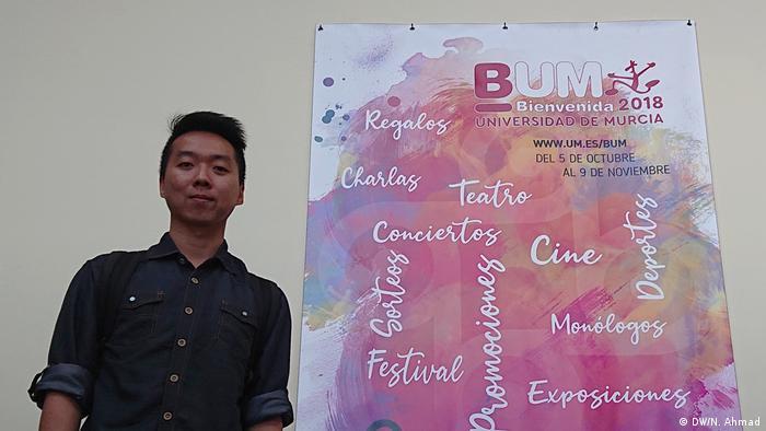 Spanien - Irwan Oyong - Erasmus Studenten aus Indonesien an der Universität Murcia (DW/N. Ahmad)