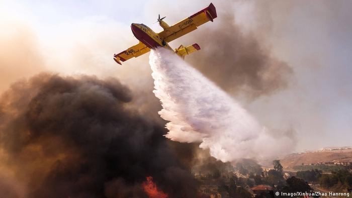Alevleri kontrol altına almak için havadan ve karadan müdahale ediliyor
