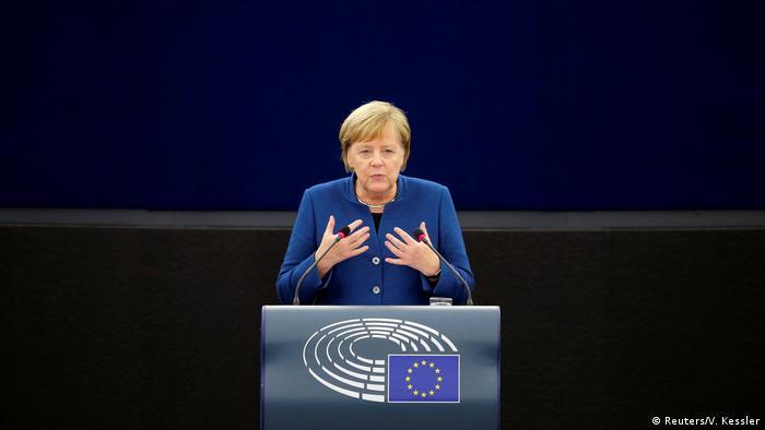 Меркель виступила в Європарламенті з промовою про майбутнє ЄС