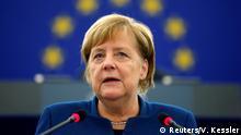 Frankreich Strassburg - Angela Merkel im Europaparlament