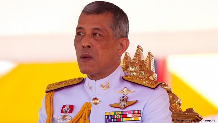 Thai King Maha Vajiralongkorn at a ceremony in Bangkok (Getty Images/P. Changchai)
