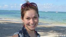 ***Nur in Zusammenhang mit dem Deutschlehrerporträt verwenden*** Porträtfoto der Deutschlehrerin Carla aus Brasilien. Rechte: Privat