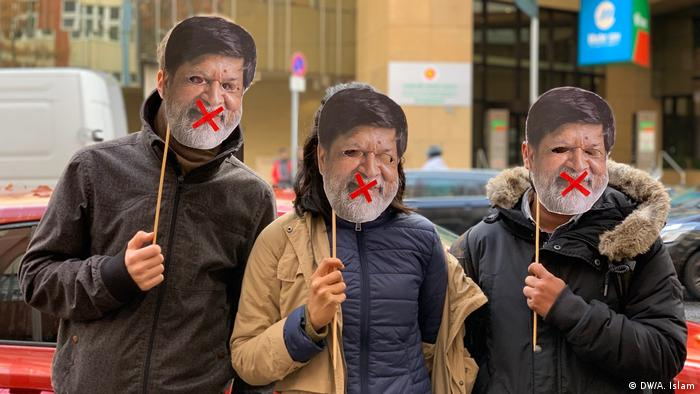Protest in Berlin in support of Shahidul Alam