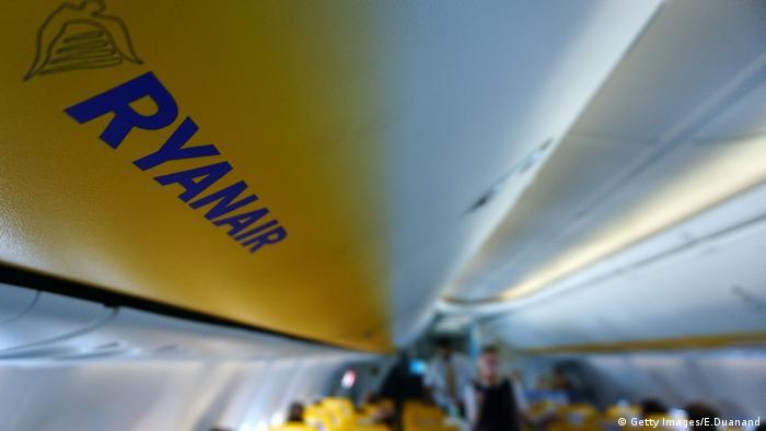 Kabine eines Ryanair-Jets