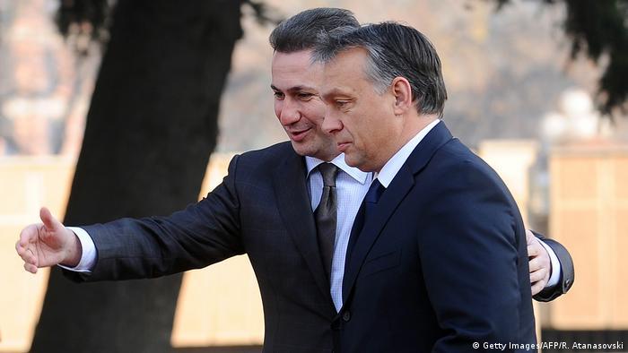 Mazedoenien, Skopje: Nicola Gruevski und Viktor Orban (Getty Images/AFP/R. Atanasovski)