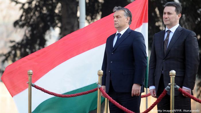 Mazedoenien, Skopje: Nicola Gruevski und Viktor Orban