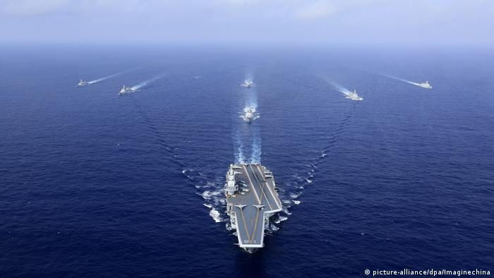 Chinese warships in the western Pacific