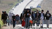 Flüchtlingskarawane Grenze Mexiko-USA
