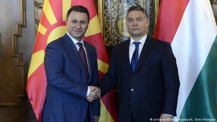 Mazedoenien Nicola Gruevski und Viktor Orban