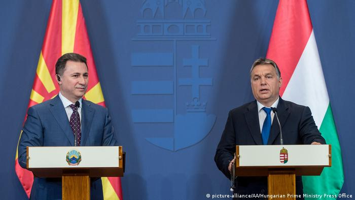 Nikola Gruevski - Viktor Orban (picture-alliance/AA/Hungarian Prime Ministry Press Office)