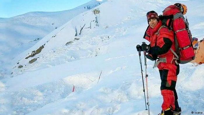 Iran - Bergsteigerin