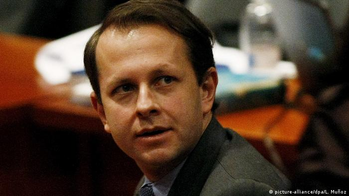 Archivbild - Kolumbiens ehemaliger Minister für Landwirtsdchaft - Andrés Felipe Arias (picture-alliance/dpa/L. Muñoz)