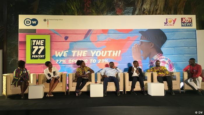 Ghana Accra DW 77 Percent debate